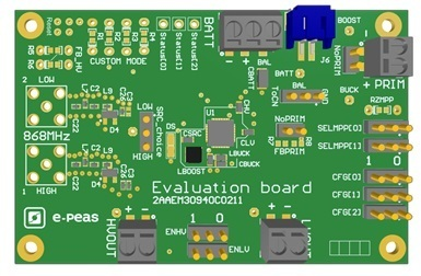 RF Evaluation Board for the AEM30940 (863-868 MHz)